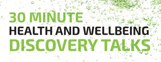 30-minute Health and Wellbeing Discovery Talks header