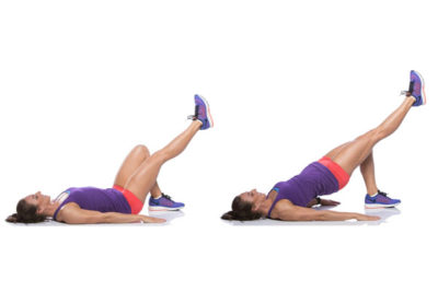 Woman doing gluteal muscle strengthening