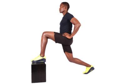 Man doing knee strengthening exercise